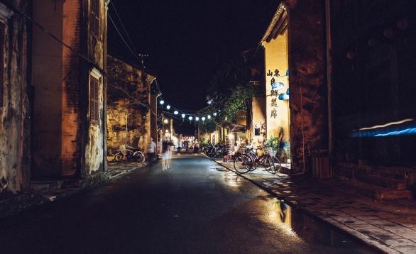 city-people-lights-village